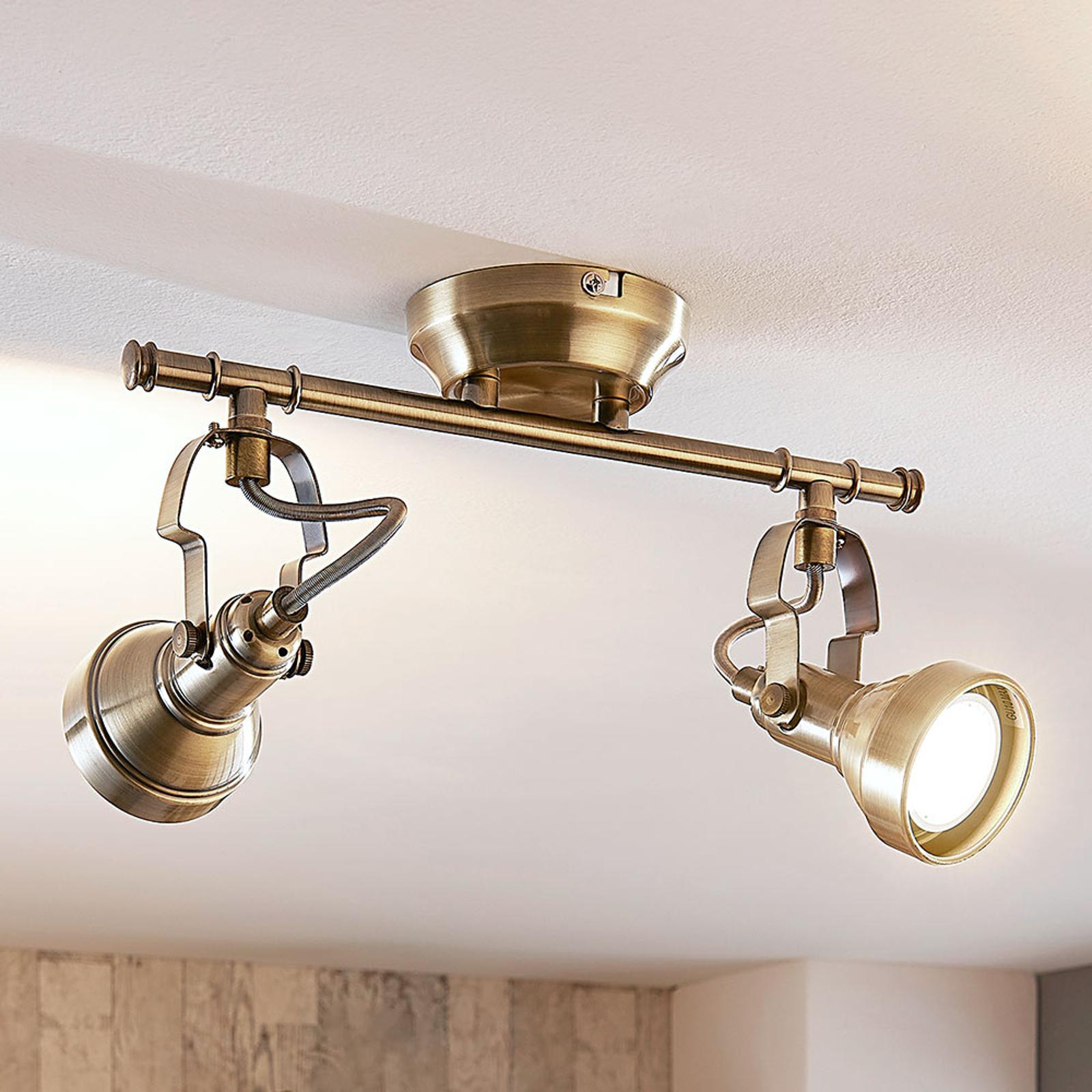 Vegglampe Perseas med 2 LED-lys