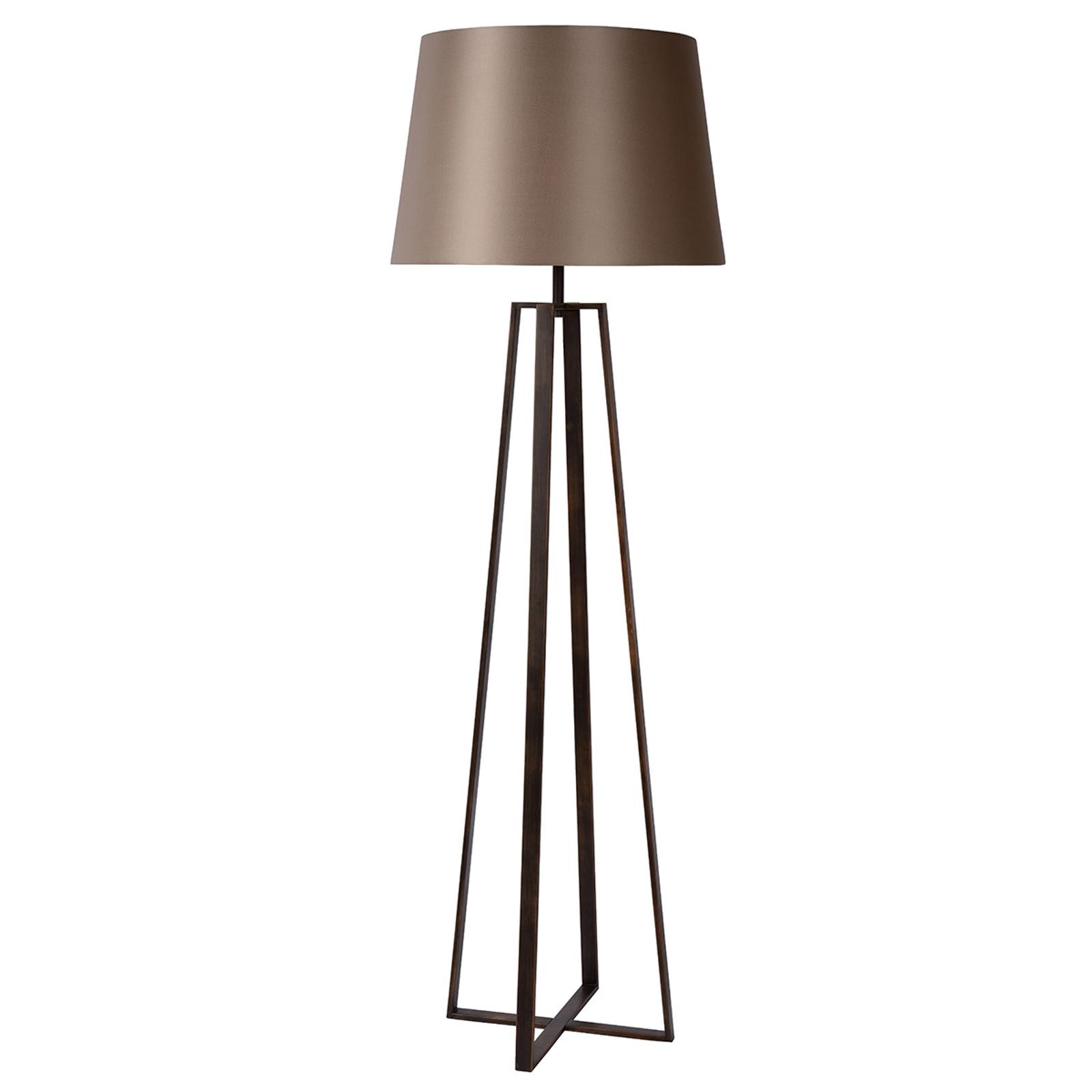 Rdzawobrązowa lampa stojąca COFFEE LAMP