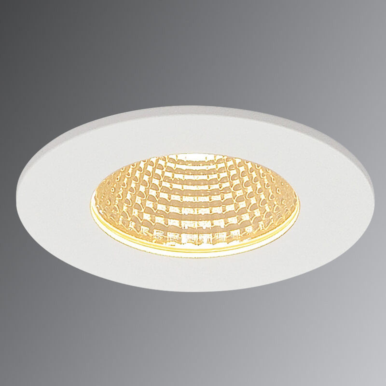SLV Patta-I LED-Einbauleuchte rund, weiß matt