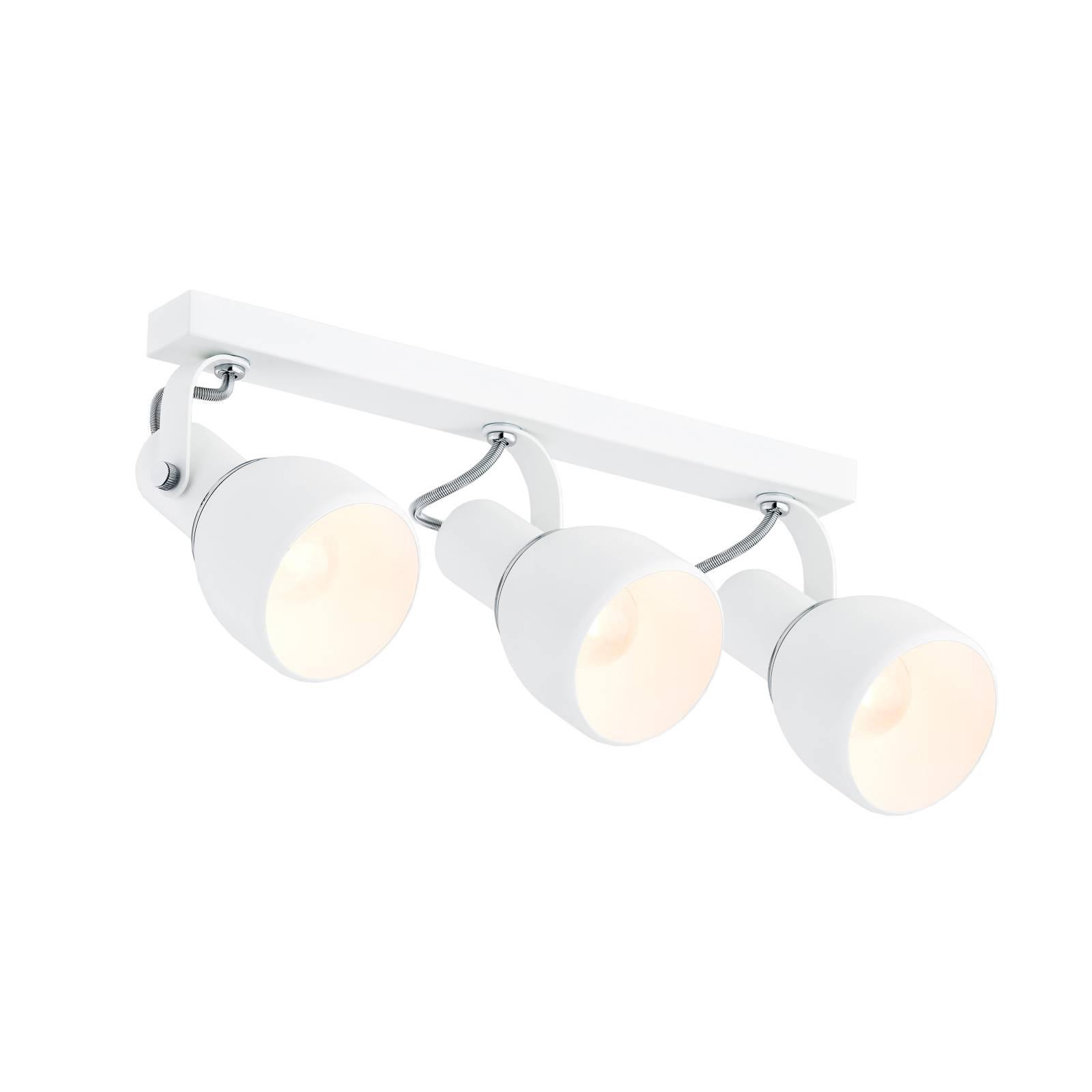 EULUNA Stropní reflektor Fiord, tři zdroje, bílý