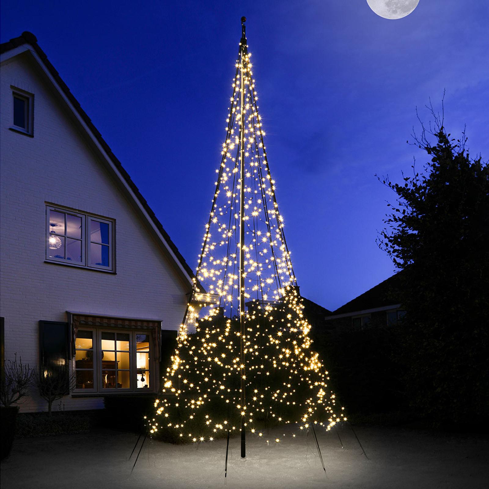 Fairybell® juletre, 6 cm, 1200 LED-lys blinkende