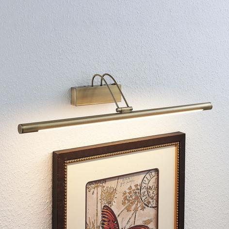 LED-bildelampe Mailine med bryter, antikk messing
