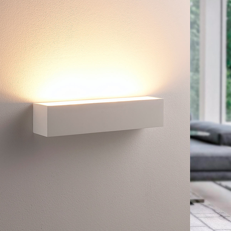 Santino – lampa ścienna z białego gipsu
