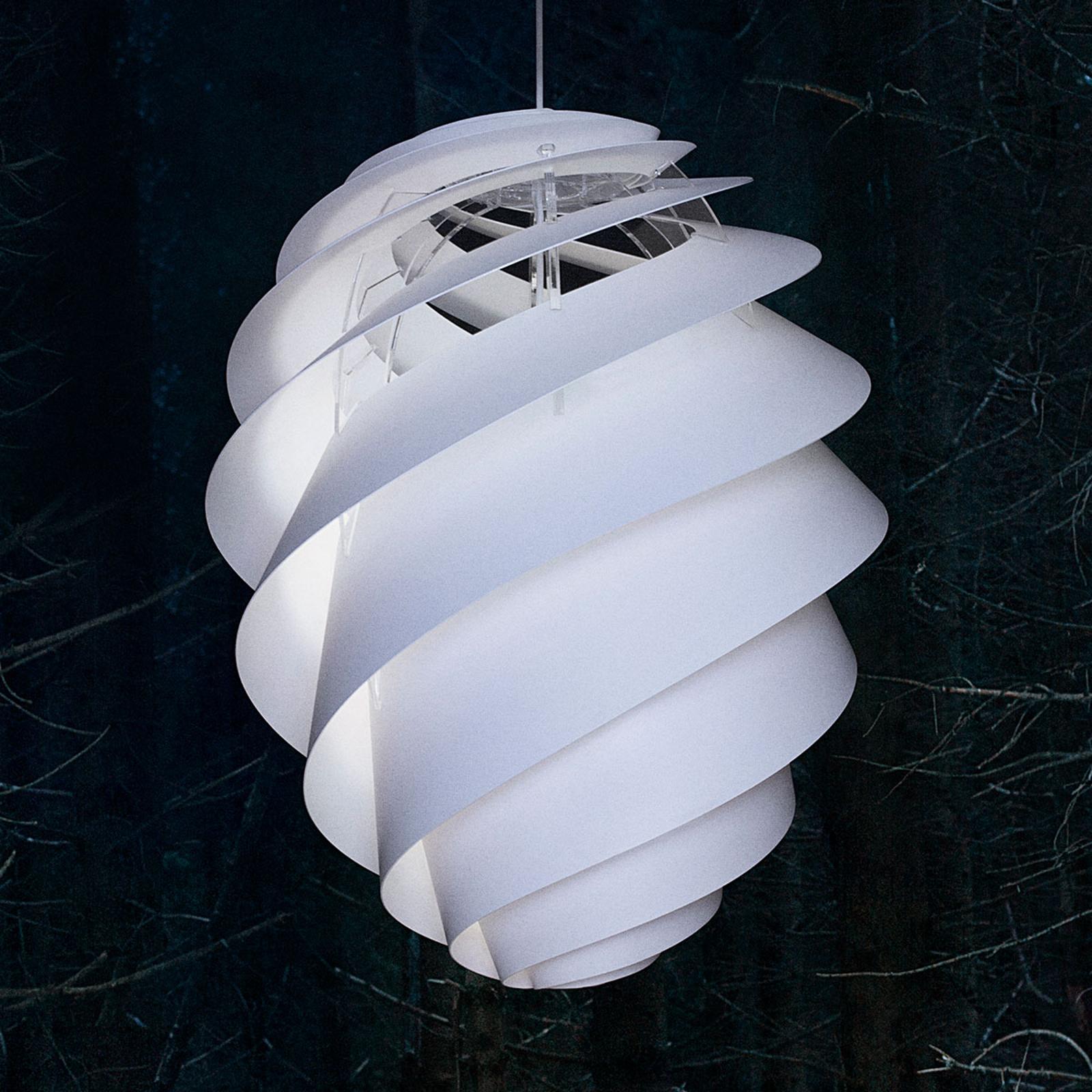LE KLINT Swirl 2 Large, biała lampa wisząca