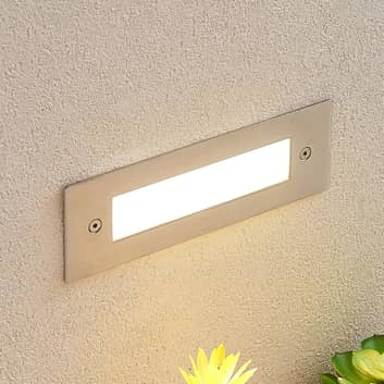 LED inbouwlamp Roni, roestvrij staal, 19,5 cm