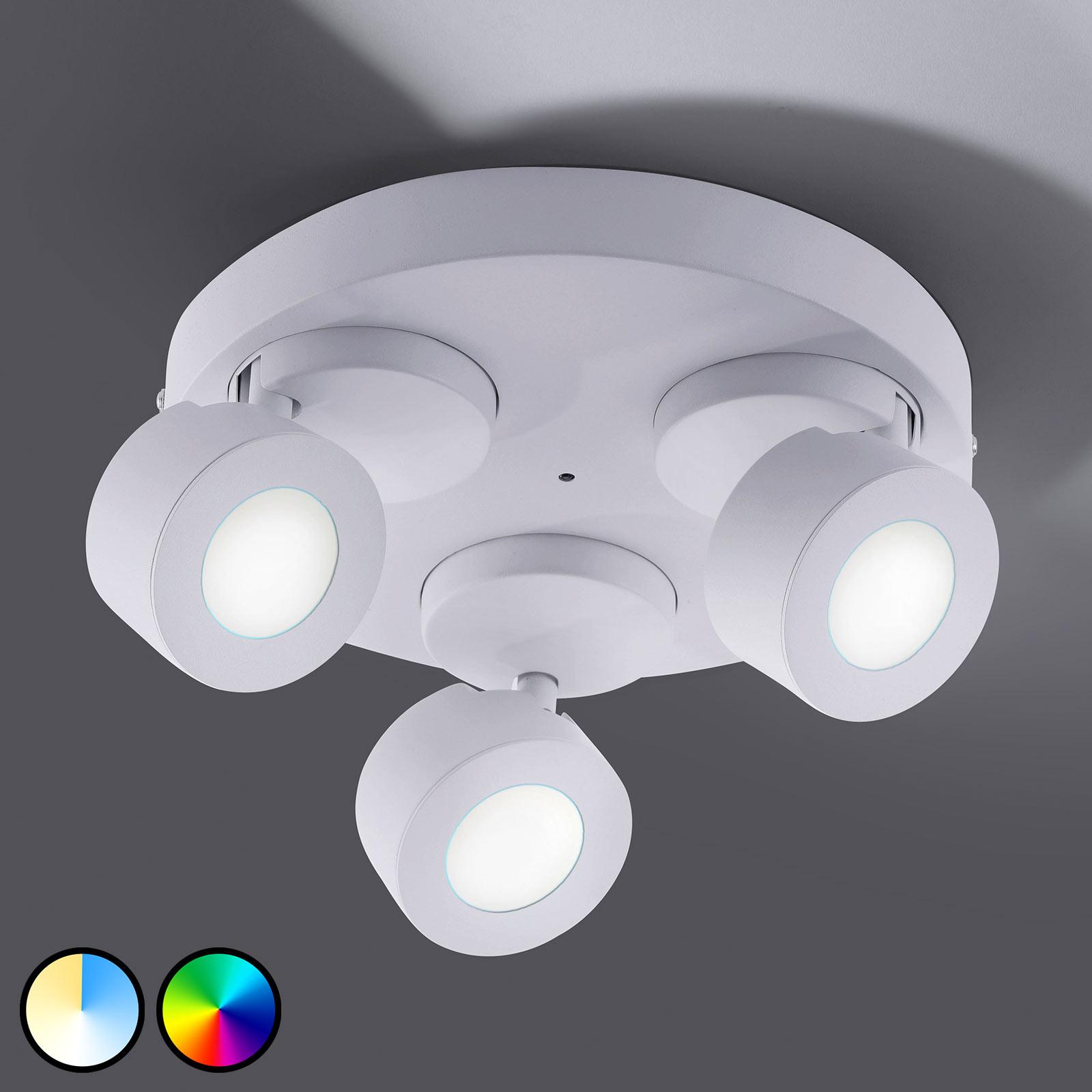 Trio WiZ Sancho LED plafondlamp 3-lamps wit