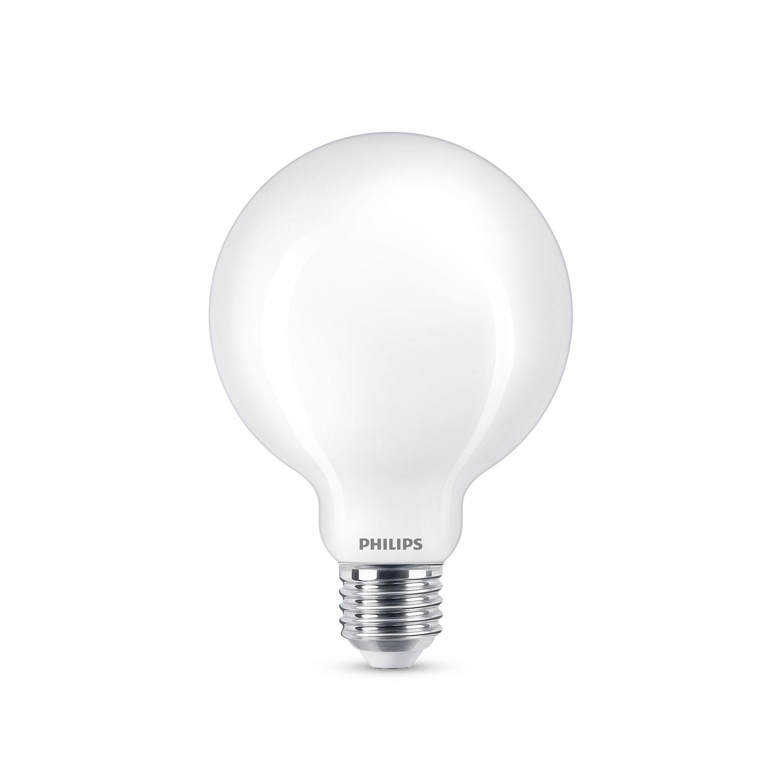 Philips LED-Globelampe E27 G93 7 W, 2.700 K, opal