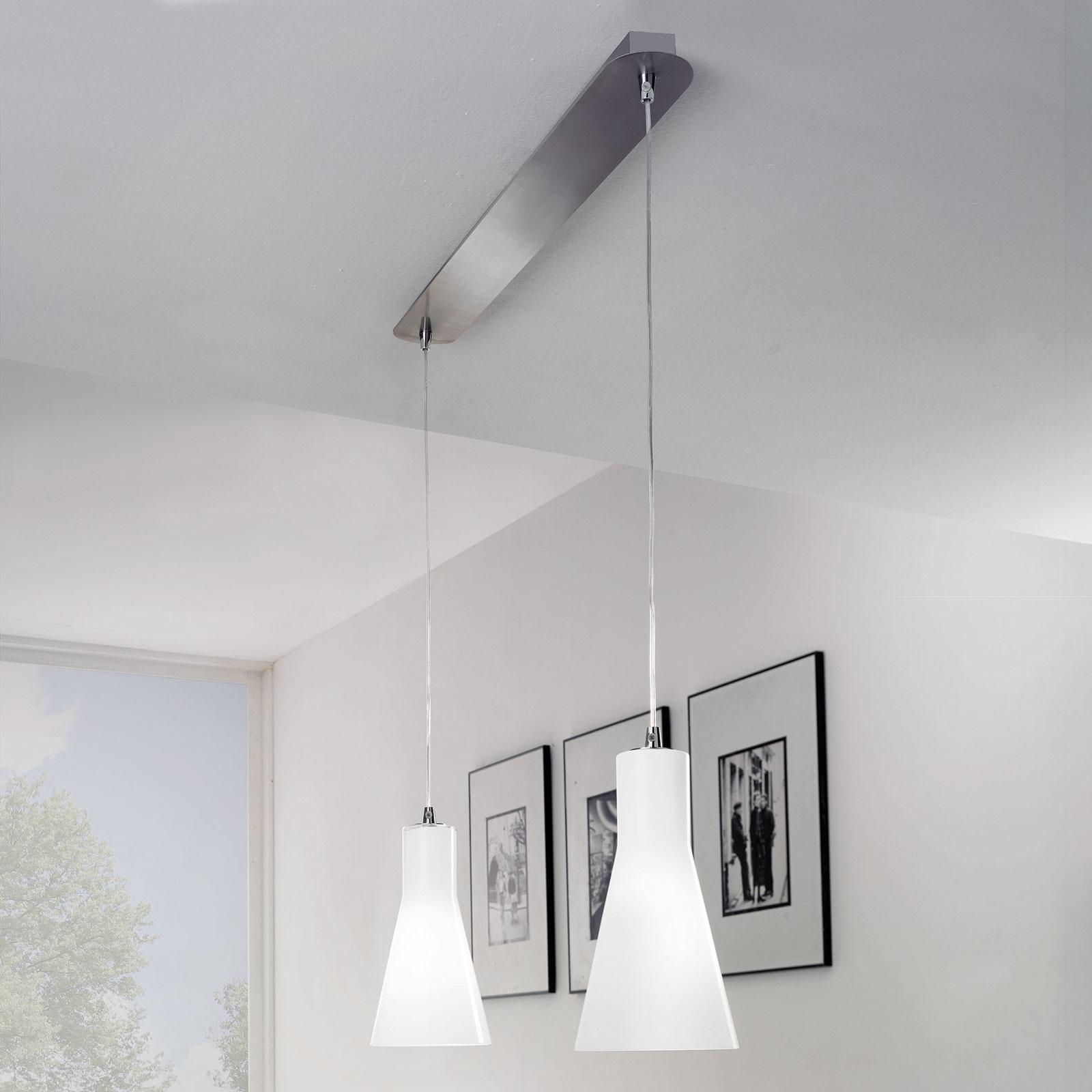Lampa wisząca Dana ze szkła, 2-punktowa