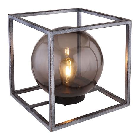Lámpara decorativa solar LED Cubo con bola