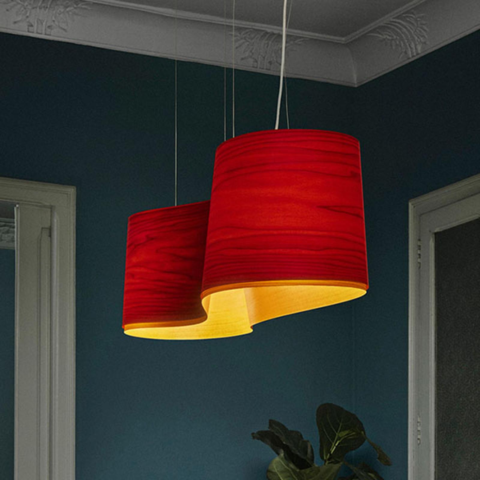 LZF New Wave lampa wisząca, czerwona/żółta