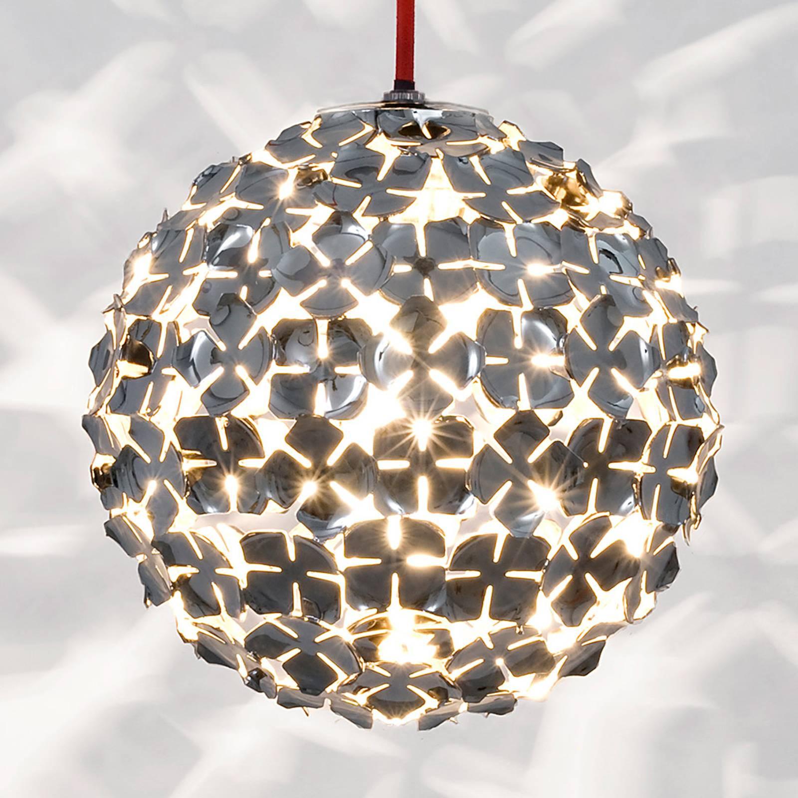 Terzani Ortenzia - lampa wisząca z dekor. kwiatową