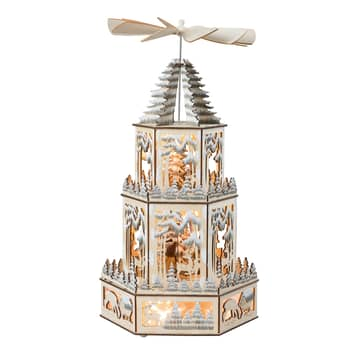 Lampada decorativa LED piramide di natale XL