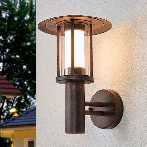 Ruosteenvärinen LED-ulkoseinälamppu Pavlos