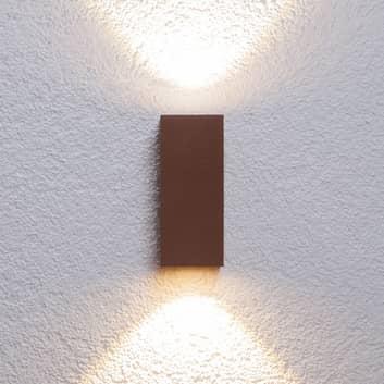 Jasna lampa ścienna zewnętrzna LED Tavi rdz. brąz