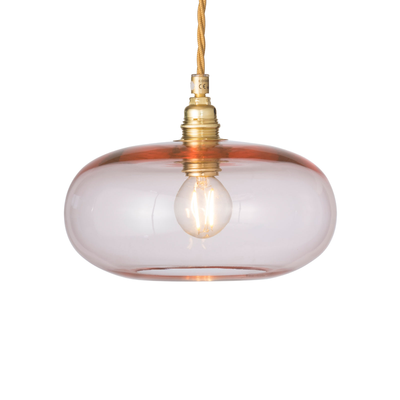 EBB & FLOW Horizon hanglamp rosé-goud Ø 21cm