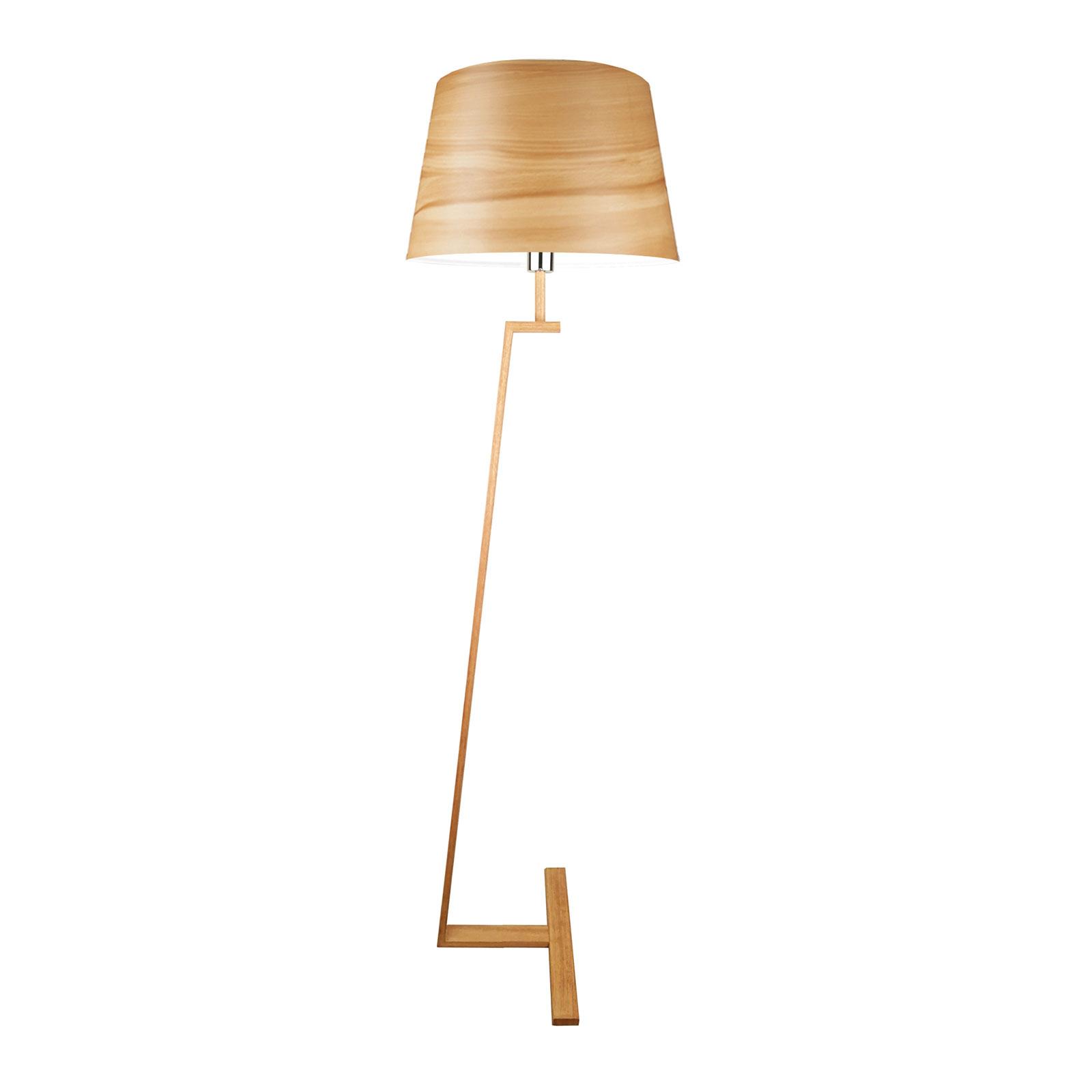Memphis LS standerlampe fineret med ægte træ