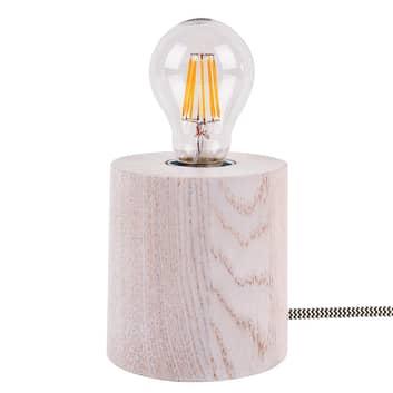 Bordlampe Trongo i tre hvit eik