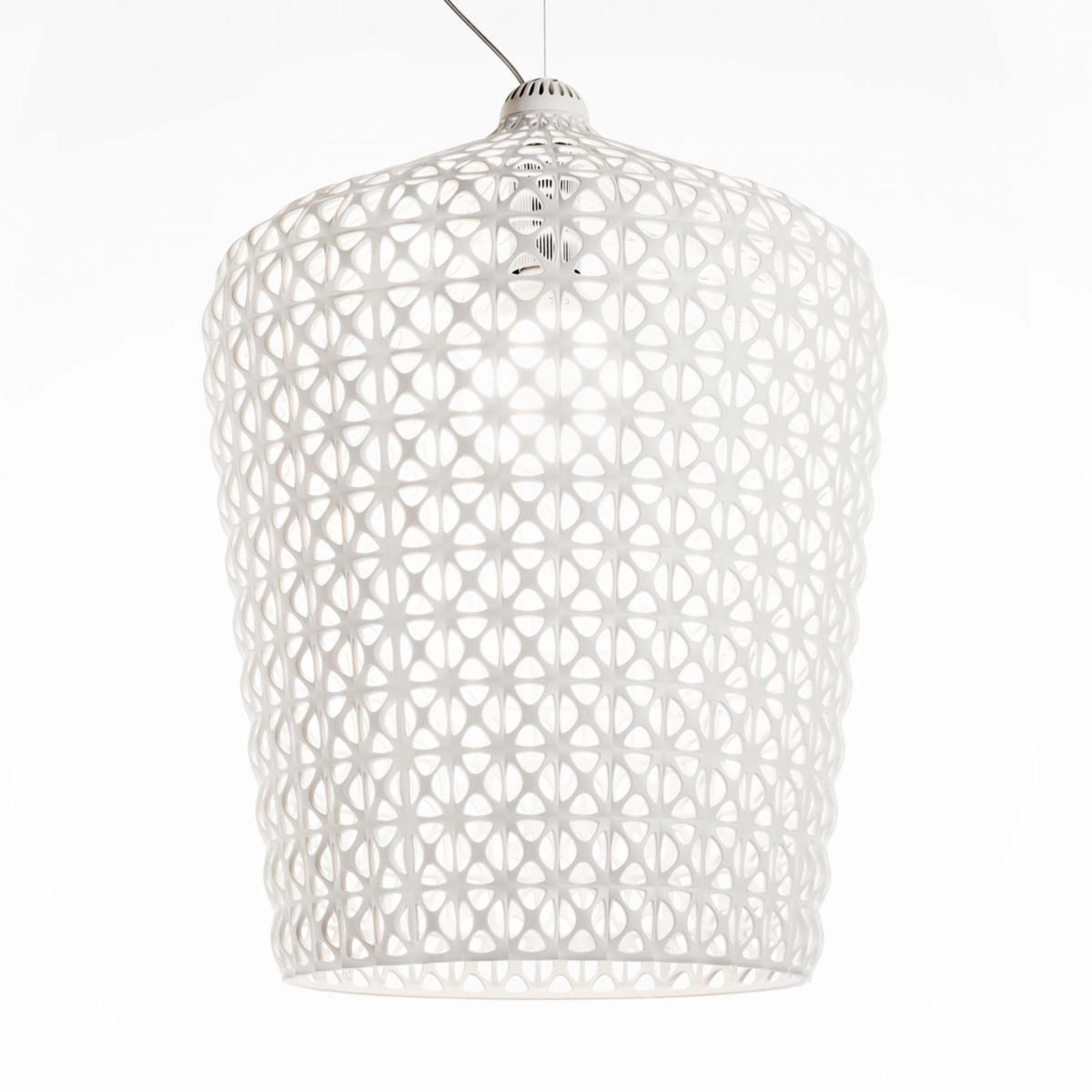 Designerska lampa wisząca Kabuki, biała