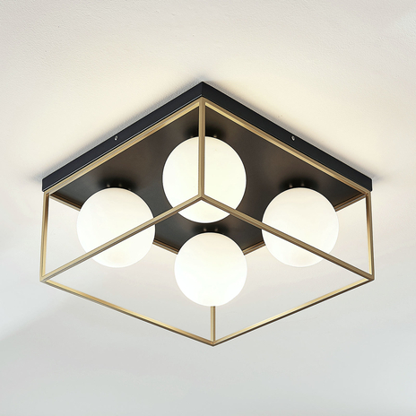 Lampa sufitowa LED Aloam z 4 szklanymi kulami