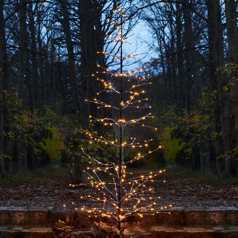Besneeuwde glinsterende LED boom Isaac