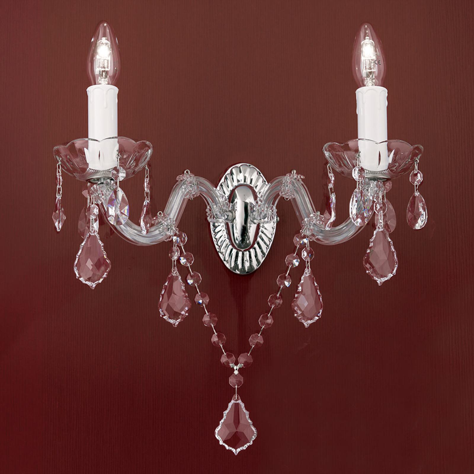 Kryształowa lampa ścienna Maria Teresa