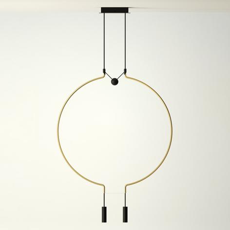 Axolight Liaison P2/M2 sospensione nero/oro