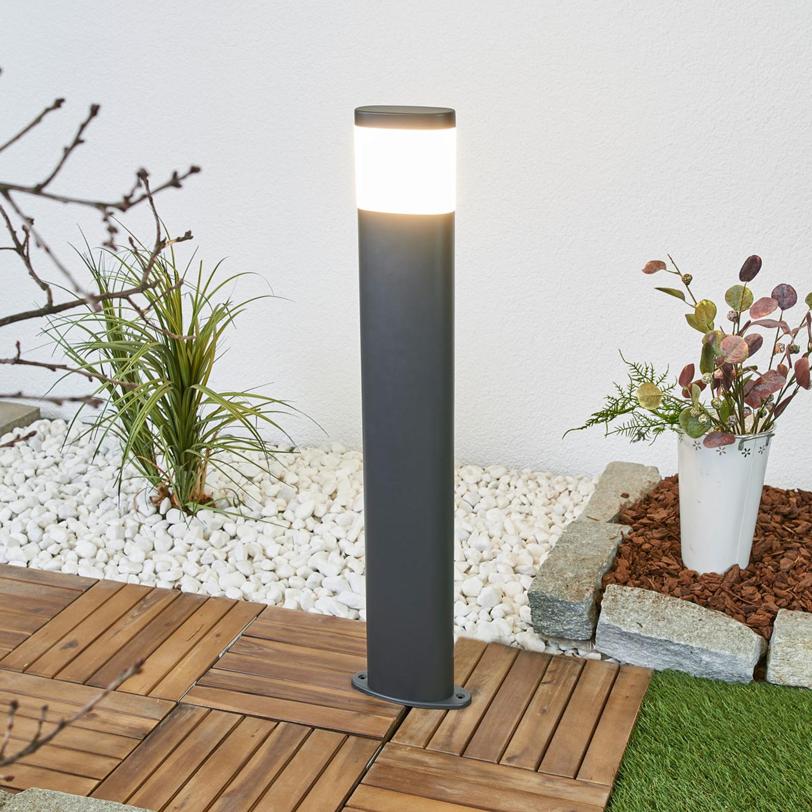 Mørk grå LED-veilampe Marius