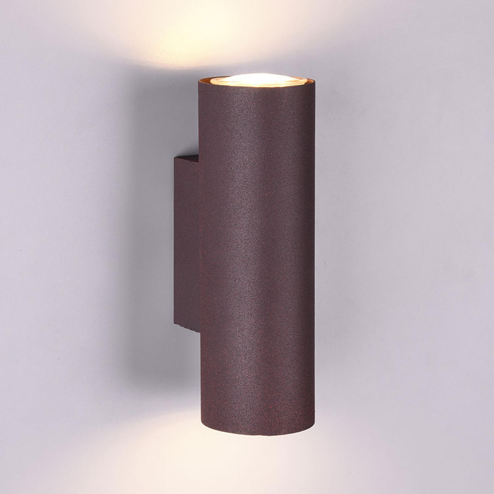Wandlamp Marley met twee lampjes roest