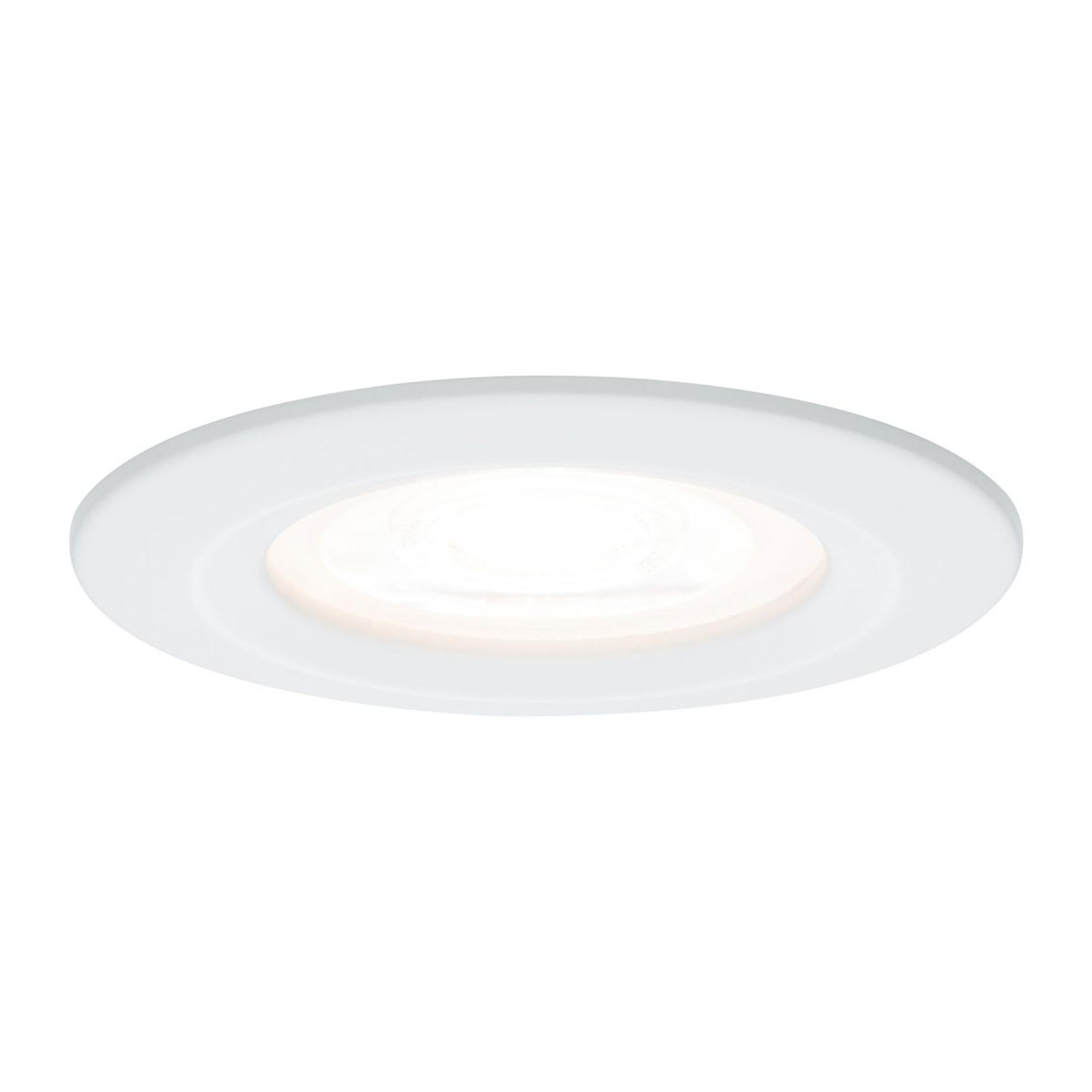 Paulmann LED-spot Nova rund, IP44, dimbar, vit
