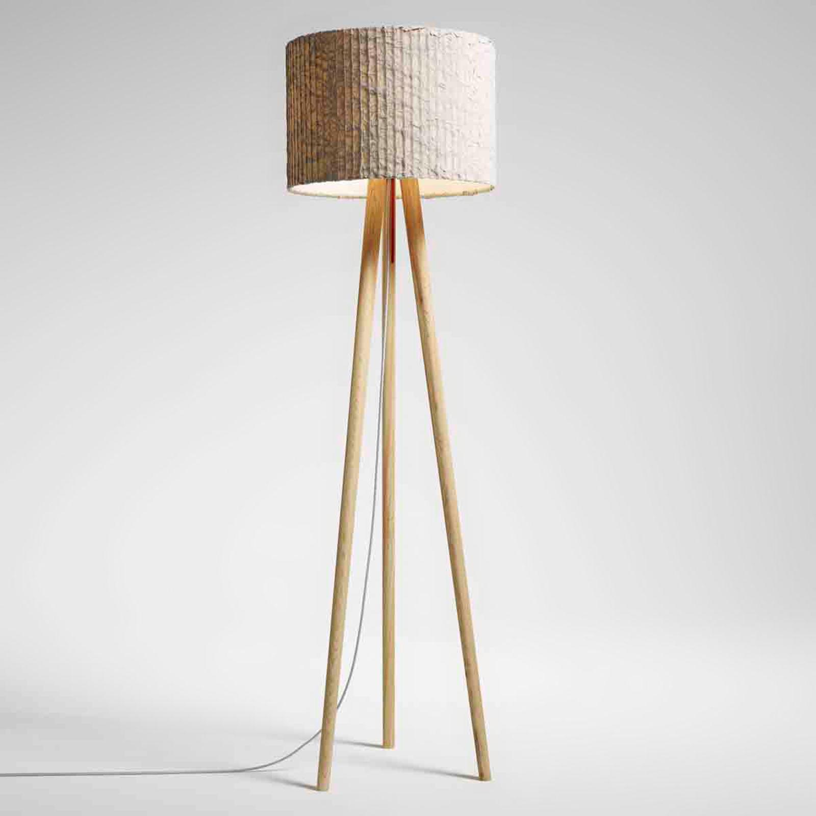 Stojací lampa Sten Cloud, bílý dub, oblázek