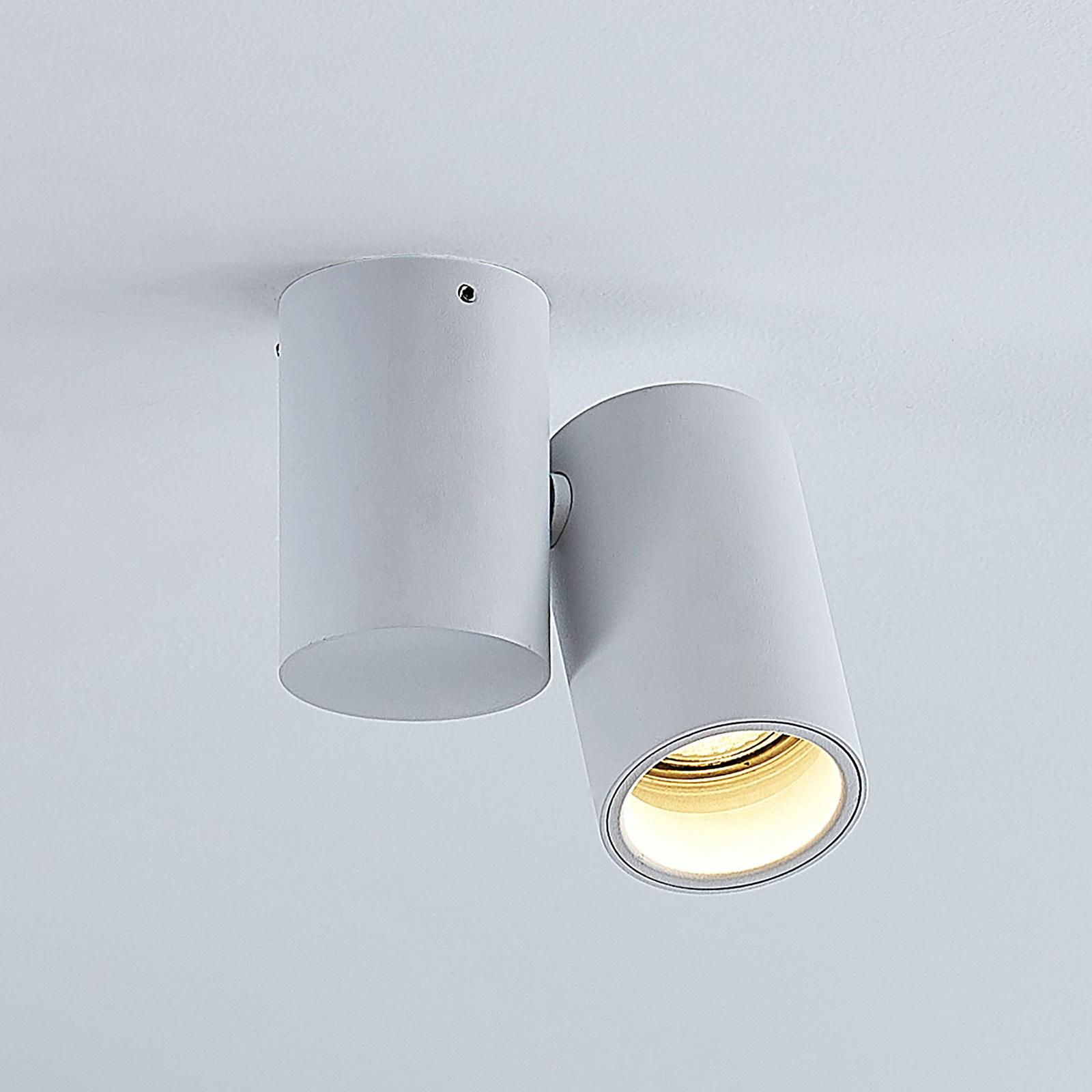 Lámpara de techo Gesina, una luz, blanca