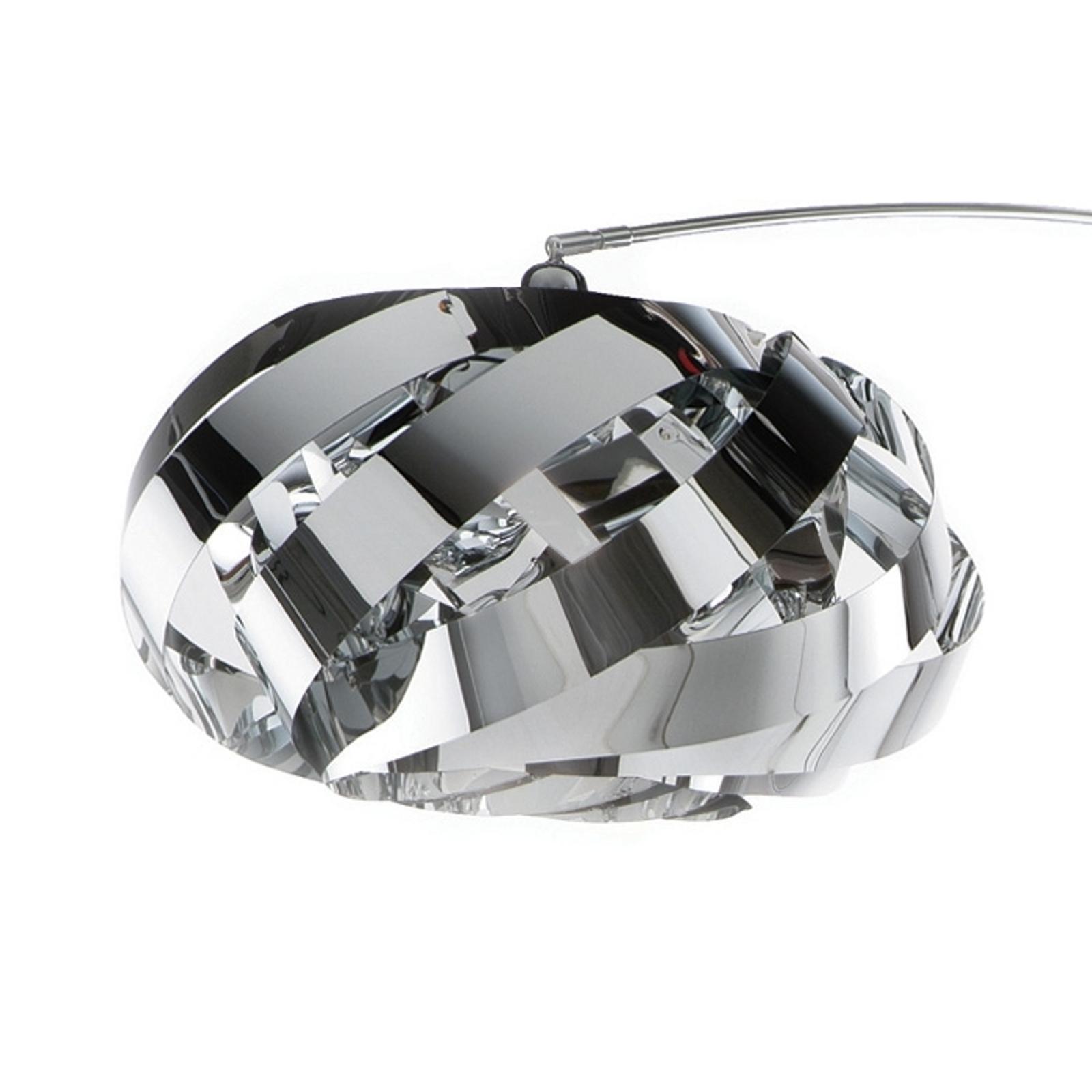 Plaza – oblúková lampa moderná a vkusná, chróm