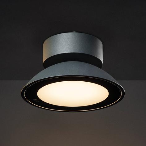 SLV Malu LED-Außen-Deckenleuchte, rund, anthrazit