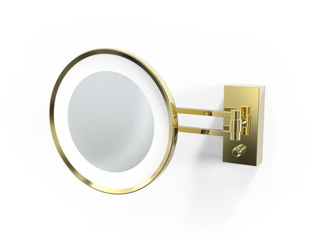 Decor Walther BS 36 miroir maquillage LED, doré