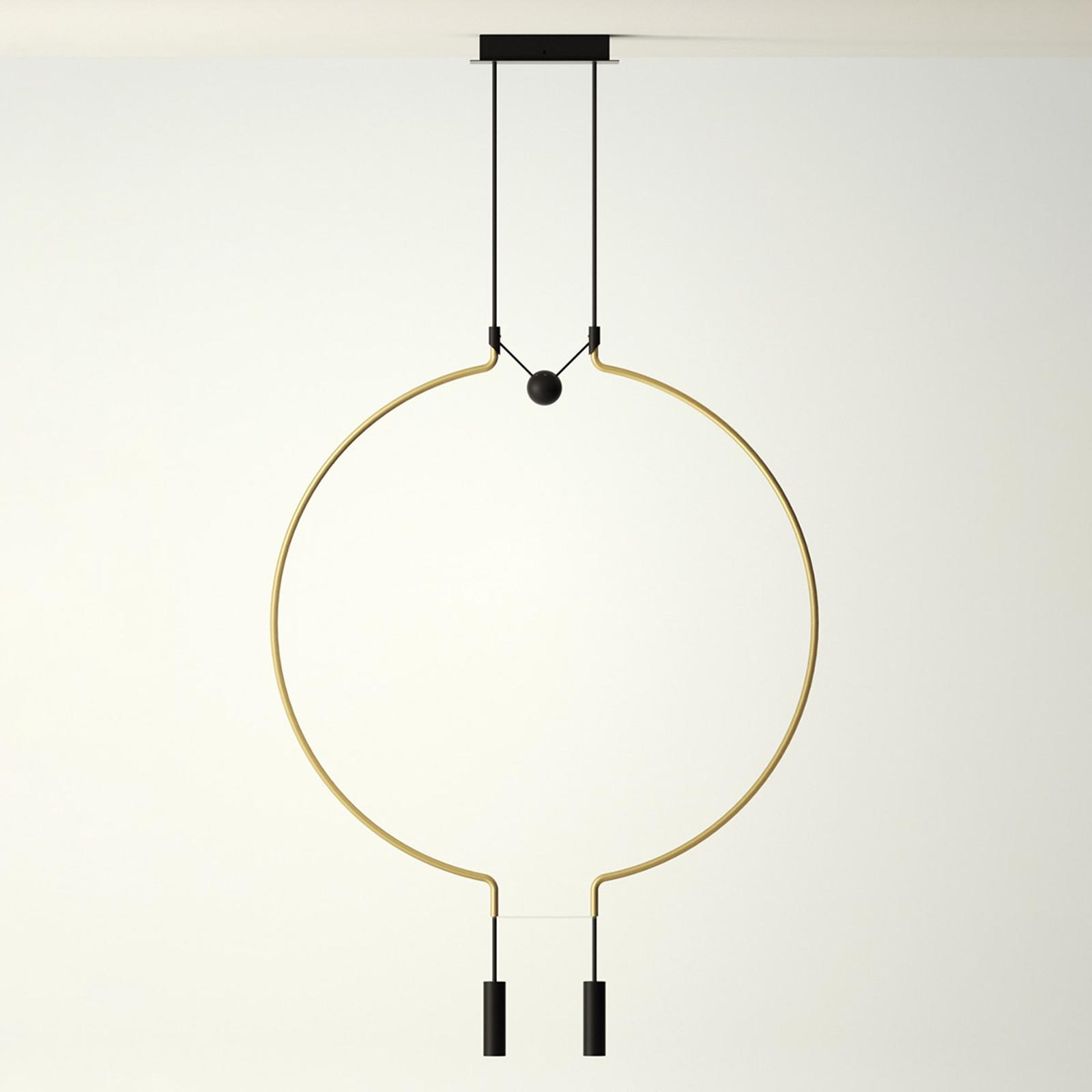Axolight Liaison M2 hanglamp goud/zwart 84cm