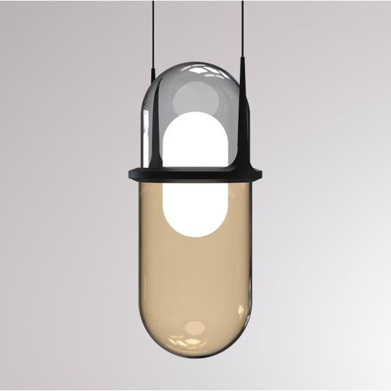 LOUM Pille LED hanglamp grijs/champagne