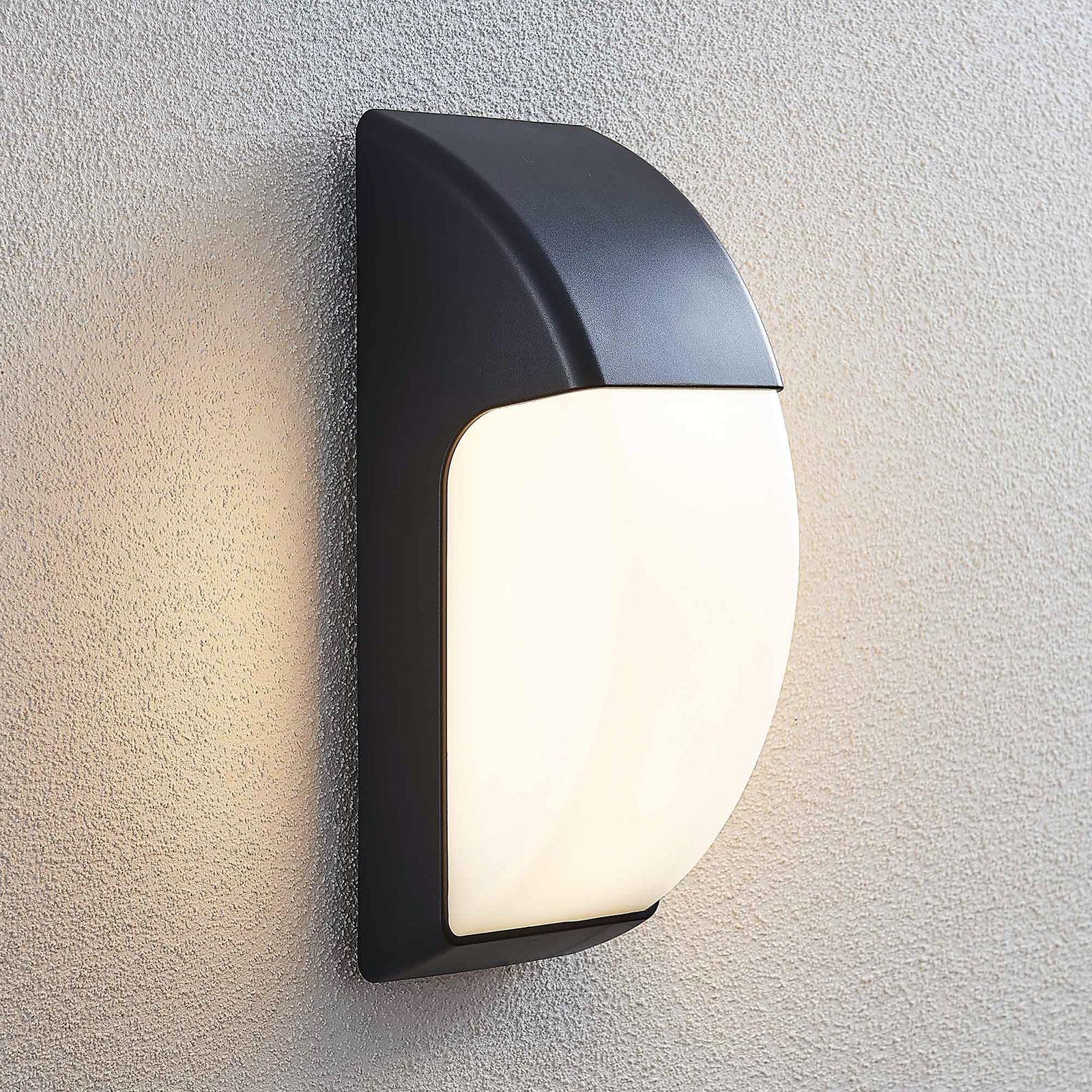Utendørs LED-vegglampe Alecia, IP65, mørkegrå