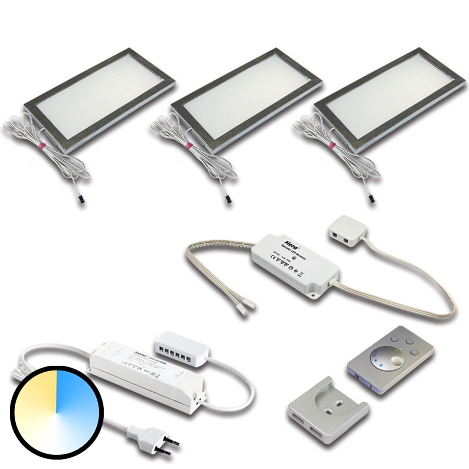 Lampada da mobili Dynamic LED Sky set 3x acciaio