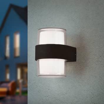 LED-Außenwandleuchte Molina, rund, anthrazit