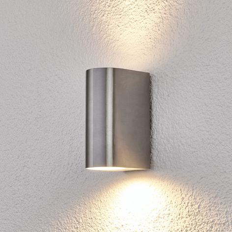 2-flammige Aluminium-Außenwandlampe Idris