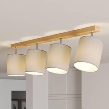 Spot pour plafond Corralee gris à 4 lampes