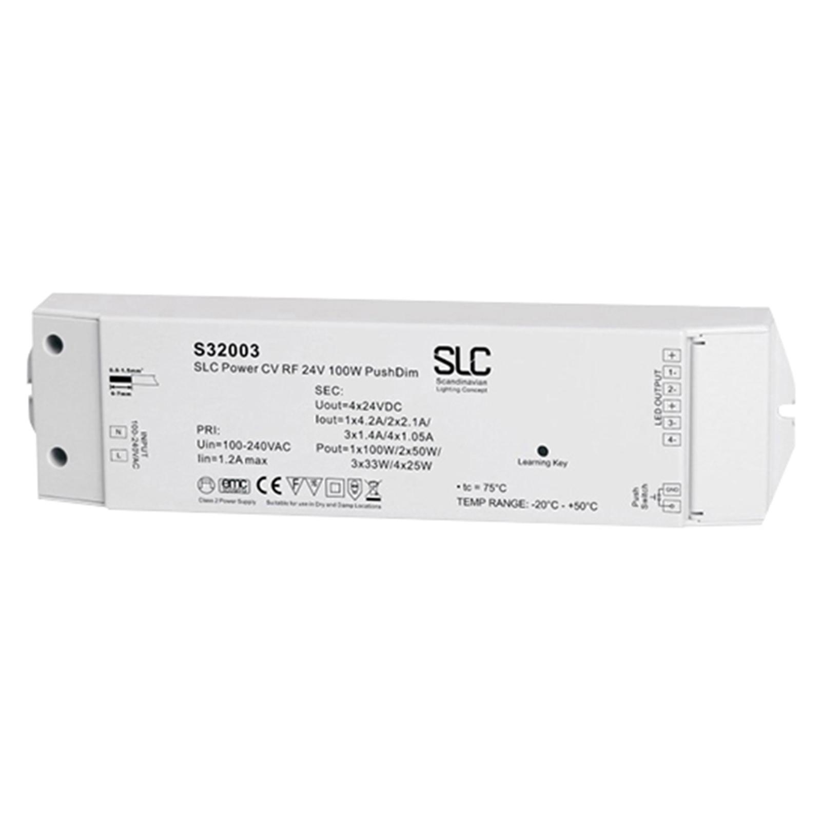 SLC driver PushDim/radio, bianco/colore, 24V, 100W