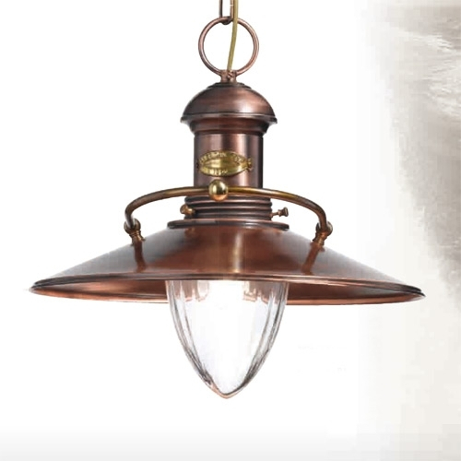 Antieke hanglamp Scia antiek koper