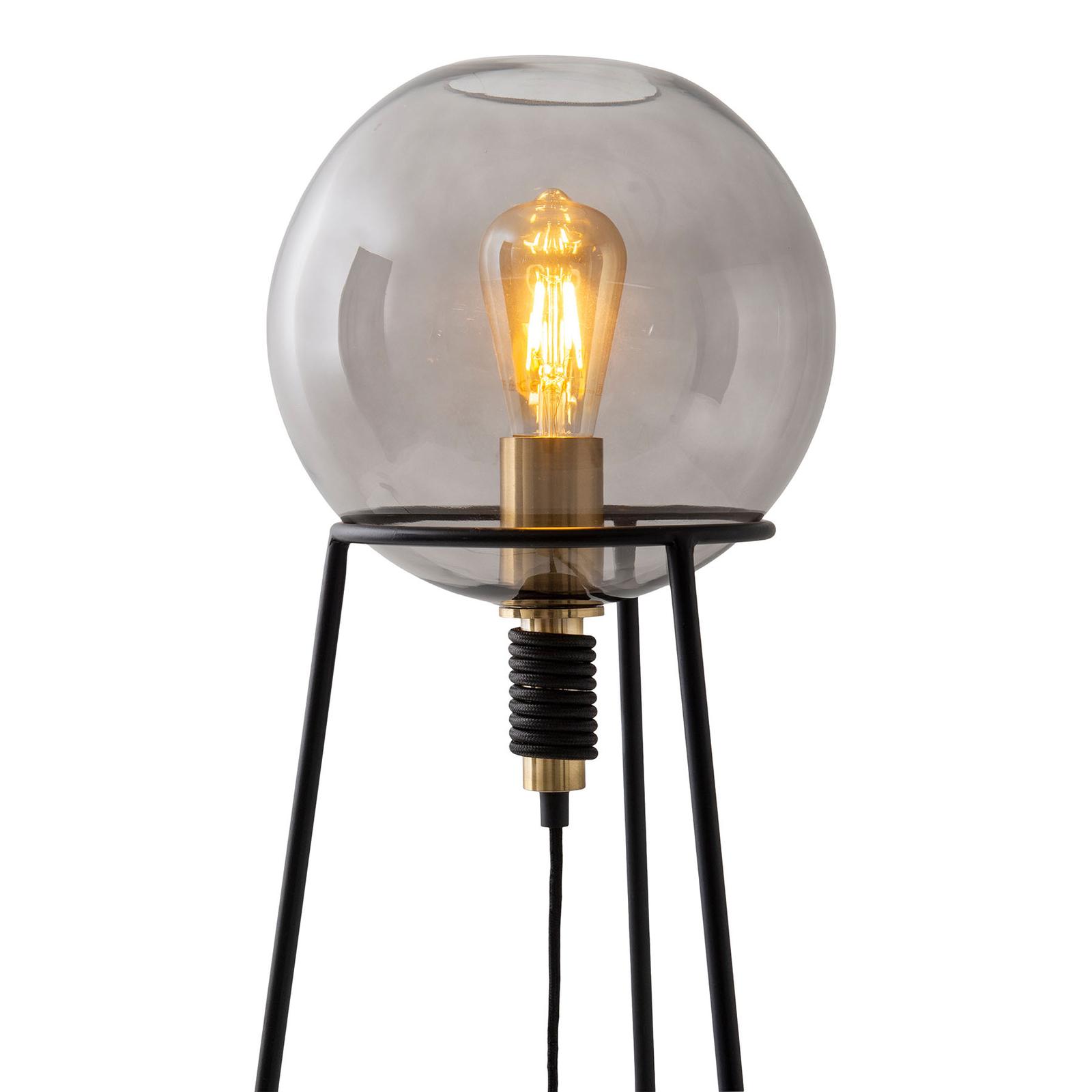 Tafellamp Stelo met glasbol-kap