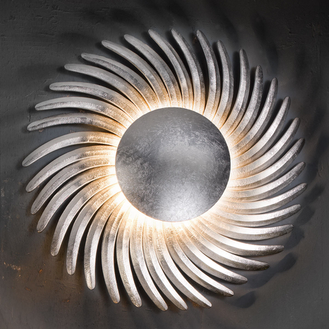 LED-vegglampe Shine LED belagt med bladsølv