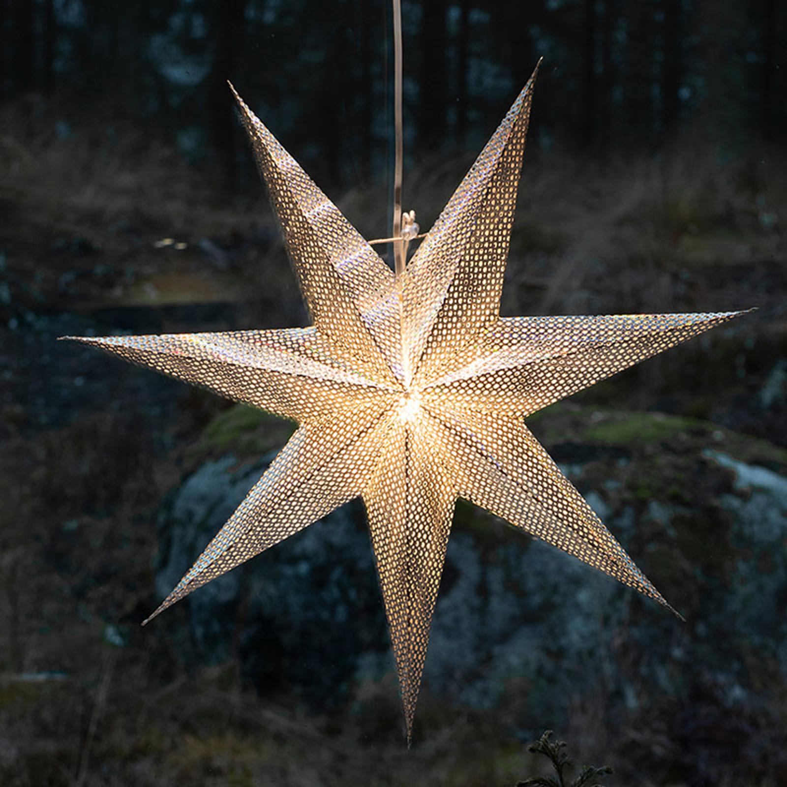 Gwiazda z papieru, srebrna, 7-ramienna