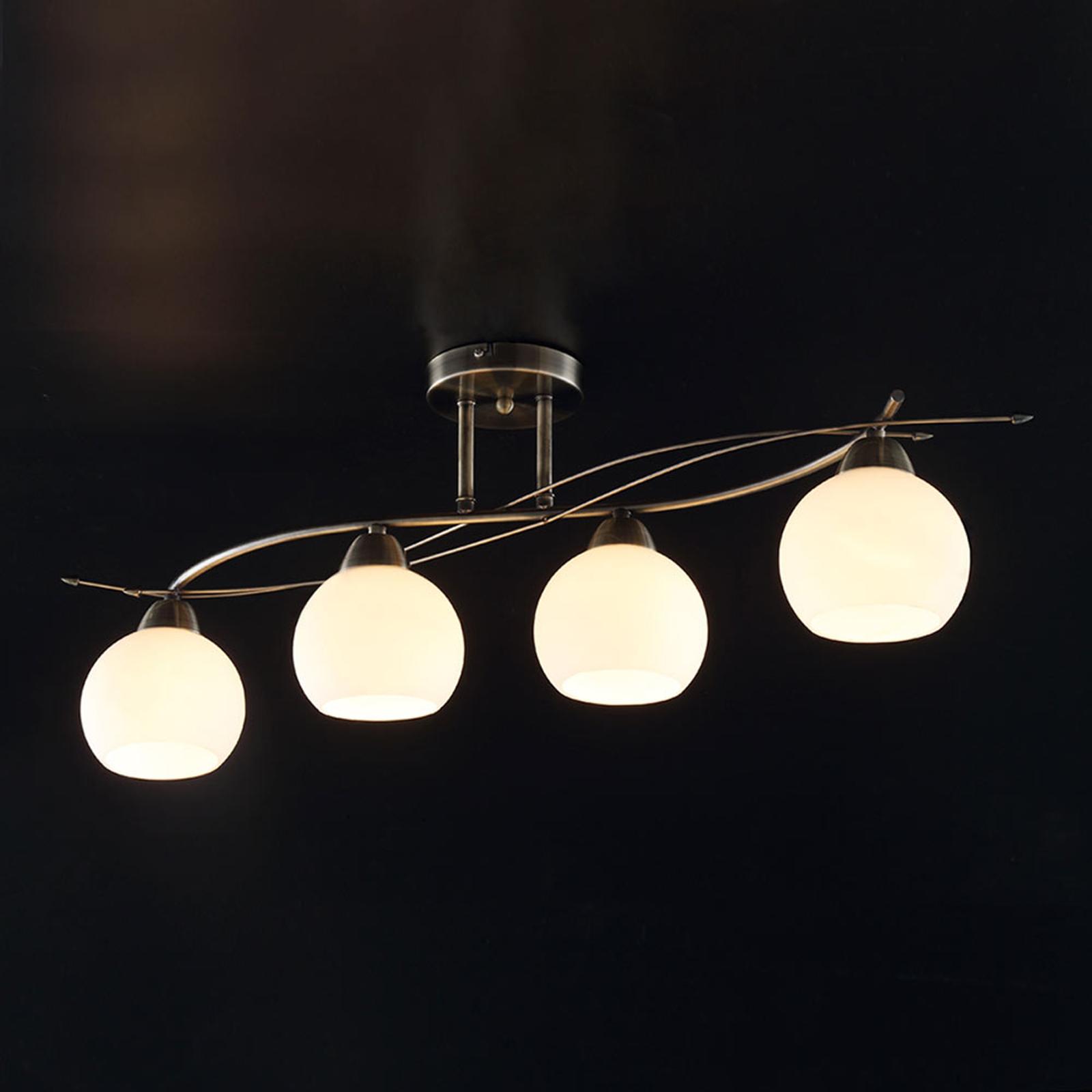 Vierflammige Deckenlampe Leanda