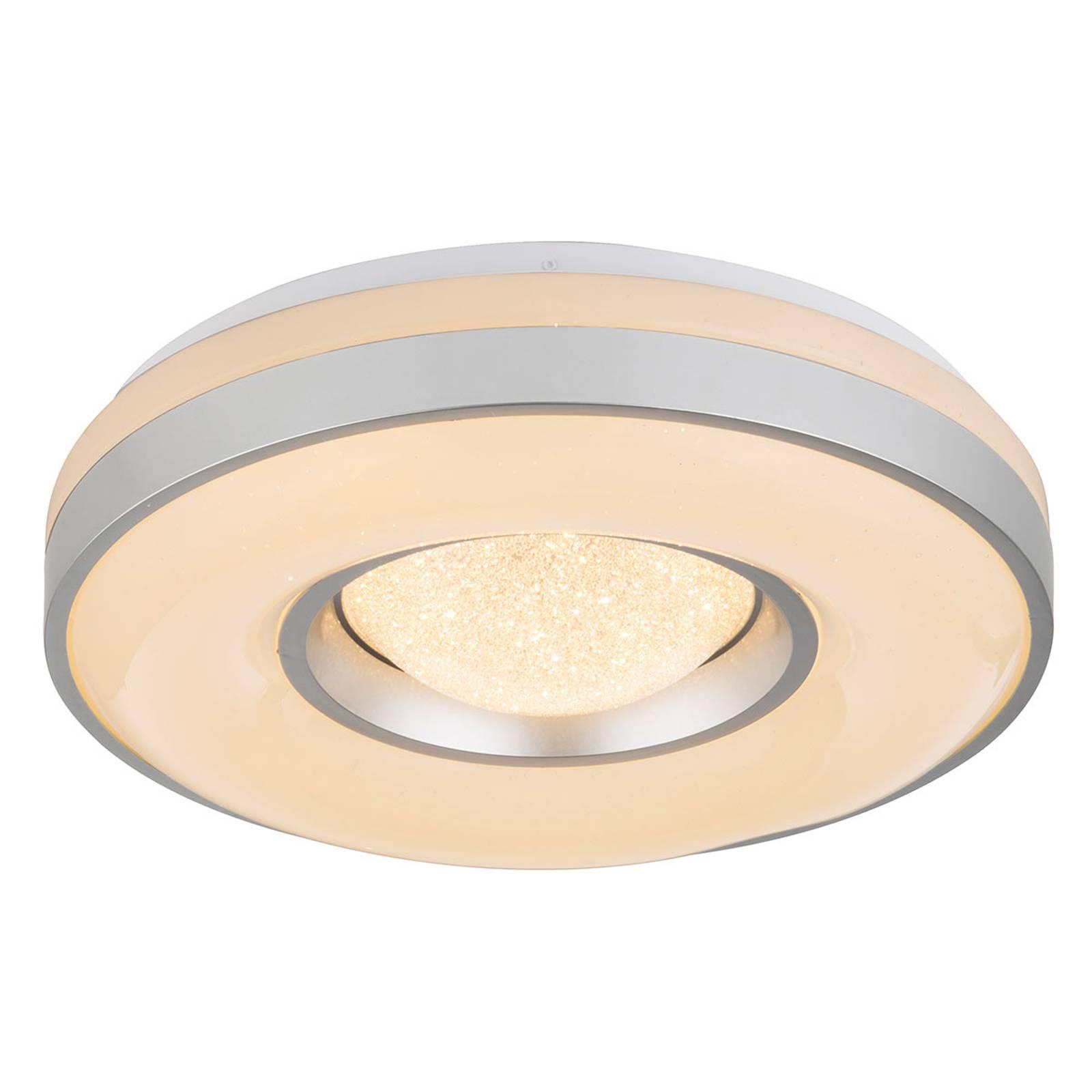 Plafoniera LED Colla con struttura color argento