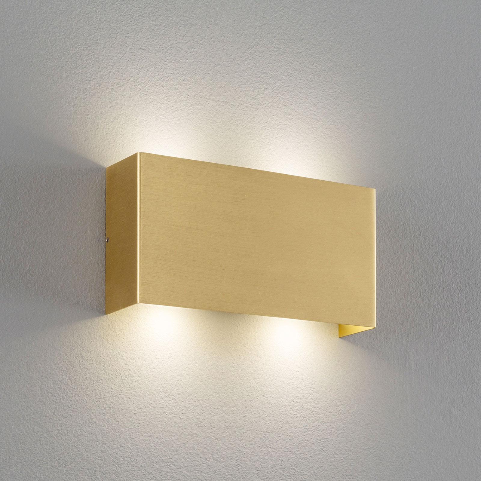 Lucande Maja wandlamp, messing mat, 22 cm