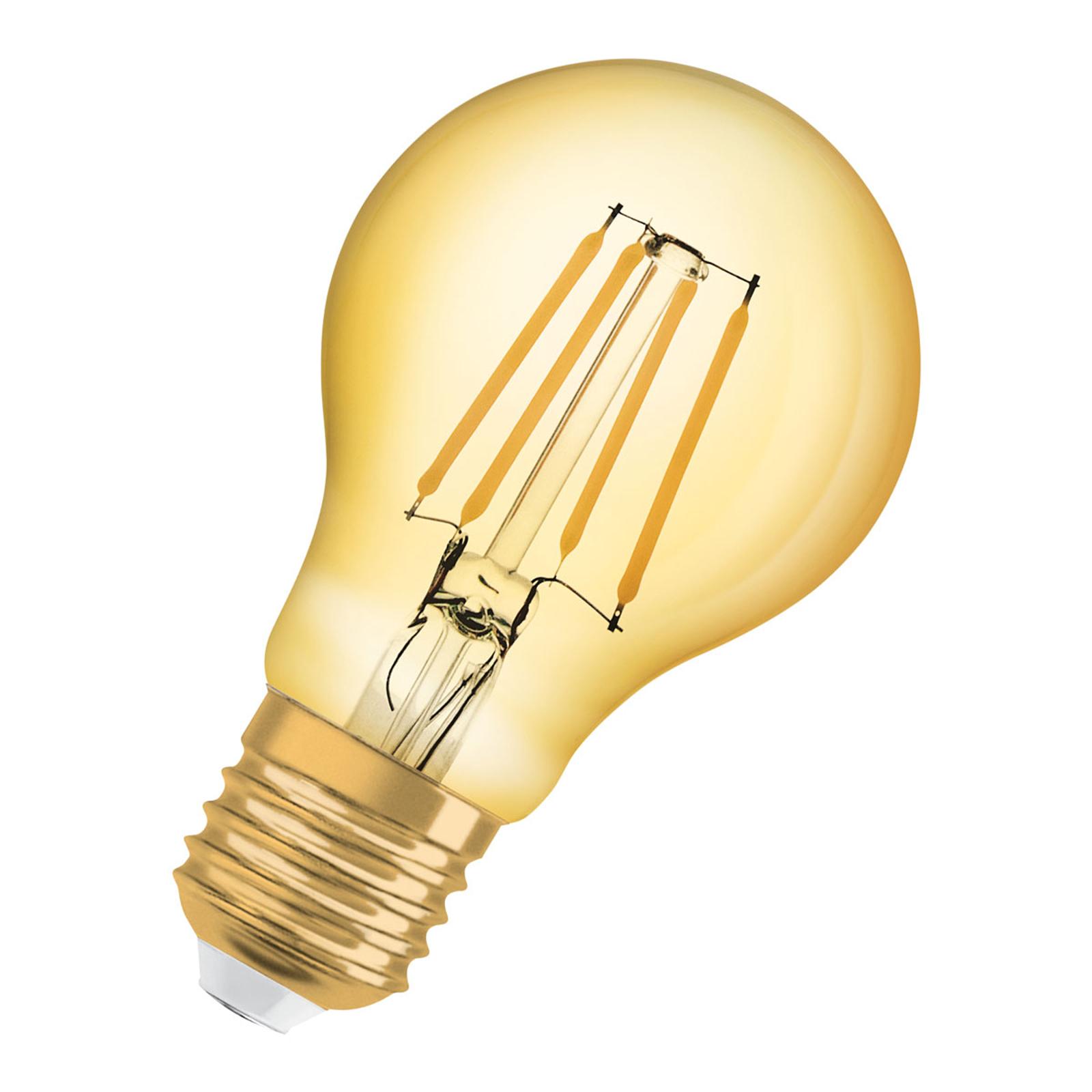 OSRAM LED-pære E27 8W Classic filament 825 gull